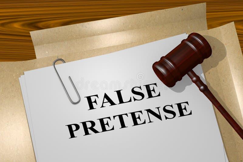 Fingimiento falso - concepto legal stock de ilustración