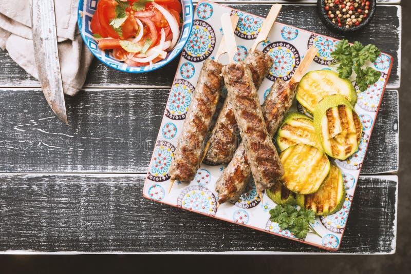 finhackad kebabmeat royaltyfri bild