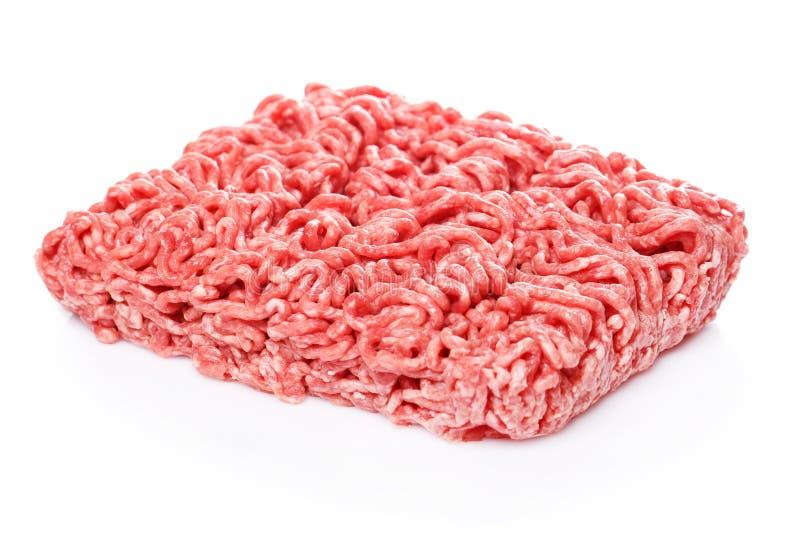 finhackad tät meat förbereder klart till upp royaltyfri fotografi
