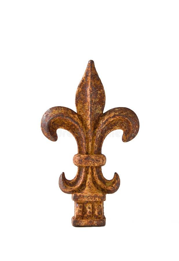 Finial del Fleur-de-Lis del ferro immagine stock libera da diritti