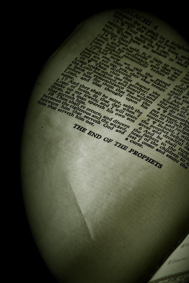 Finisepia van Malachi van de Reeks van de bijbel stock afbeeldingen