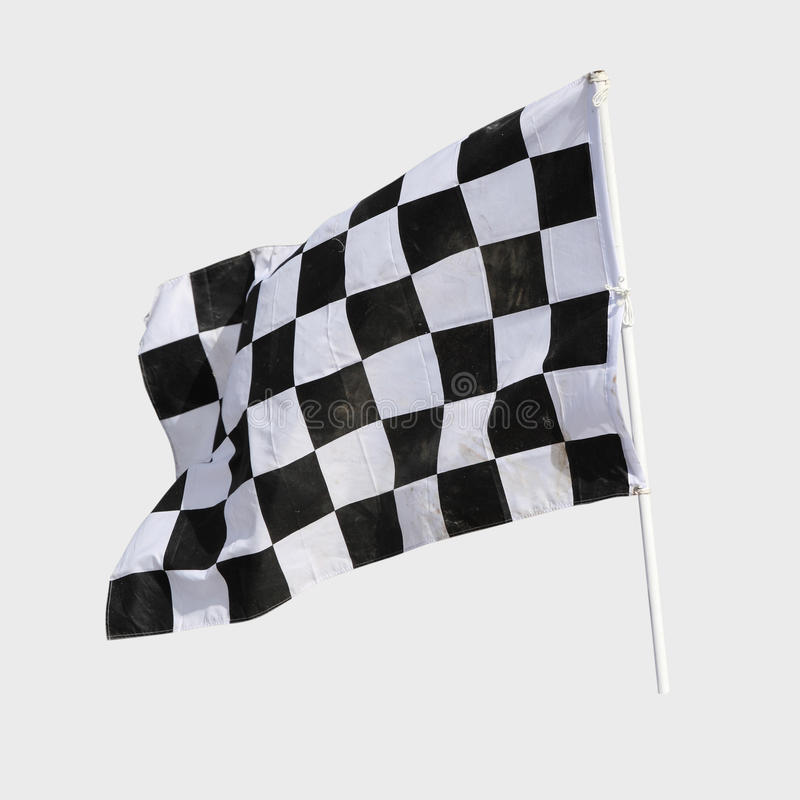 Finish flag. For racing car isolate on white stock images