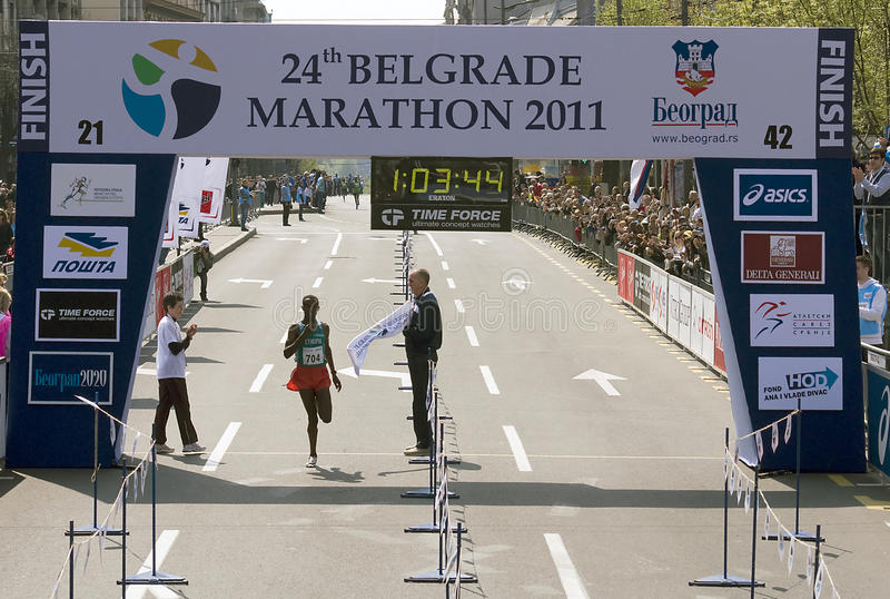 Download Finish Of Half Marathon For Man Editorial Stock Image - Image: 19197789