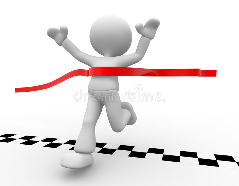 Finish line royalty free illustration
