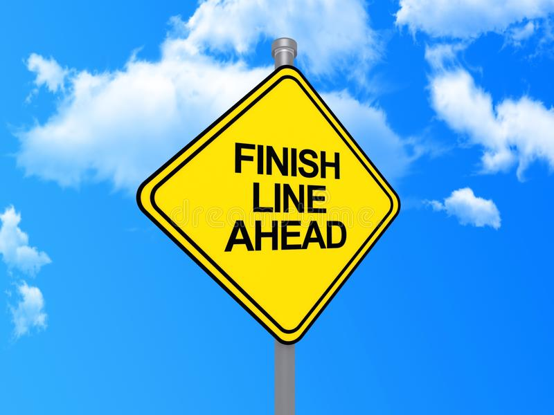 Finish line ahead sign royalty free stock photos