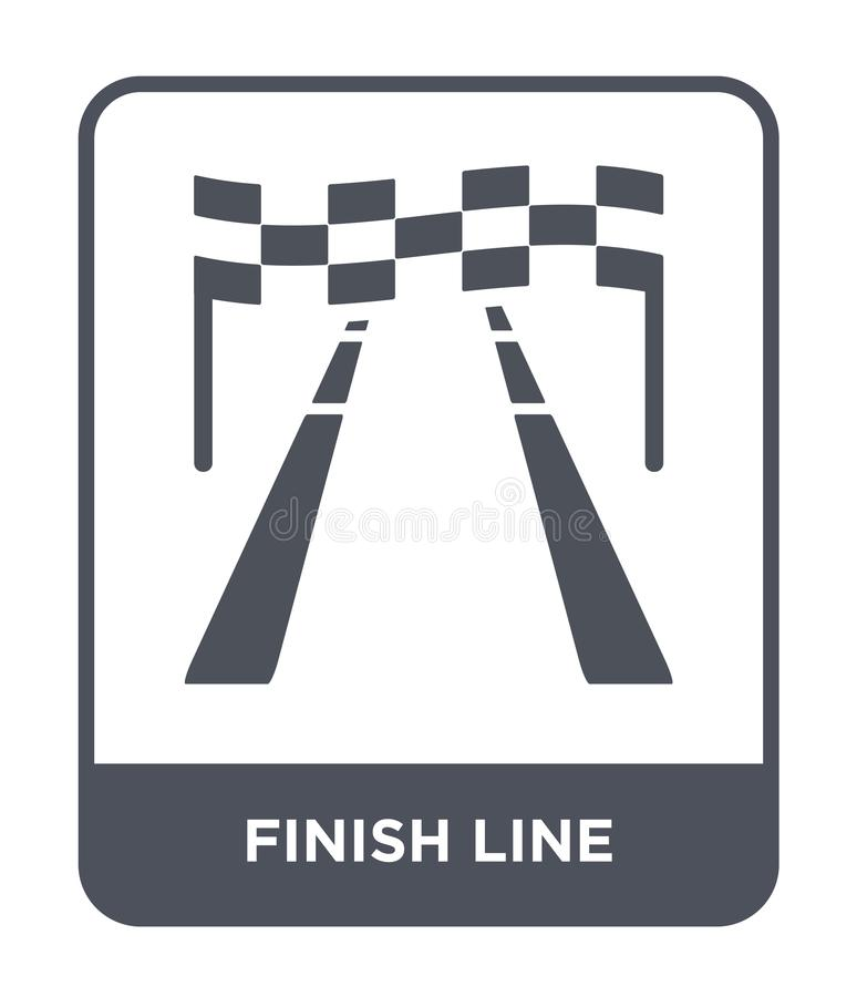 finish line icon in trendy design style. finish line icon isolated on white background. finish line vector icon simple and modern vector illustration