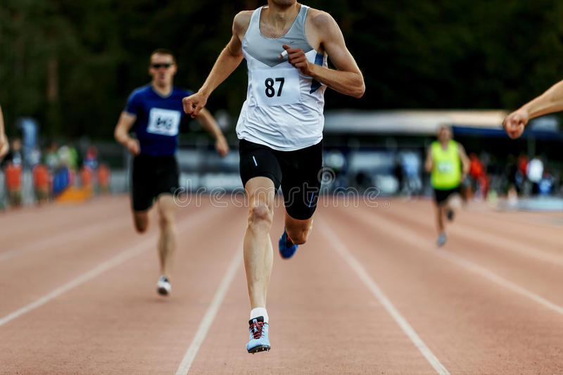 Download Finish Line Winner Man Runner Stock Photo - Image of championships, fast: 94920162