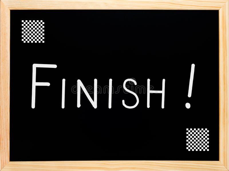 Download Finish Text Written On Blackboard, Chalkboard Stock Image - Image: 25357645