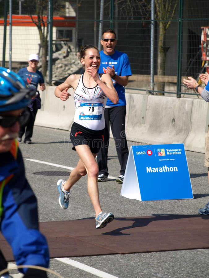 Download Finish Of The Vancouver Marathon Editorial Photography - Image: 19358007