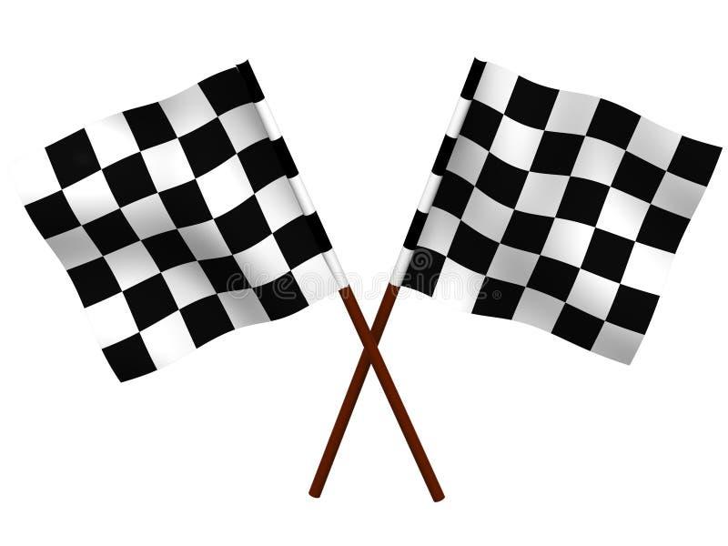 Finishing checkered flag royalty free illustration