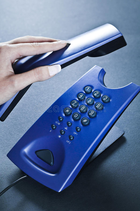 Download Finishing The Conversation Through The Phone Stock Photos - Image: 22345033