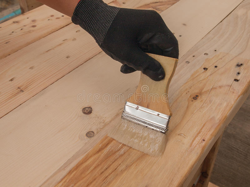 Finishing by hand stock images