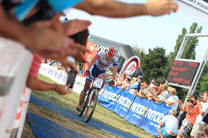 Finishing Pavel Boudny - MTB Cross Country Editorial Photography