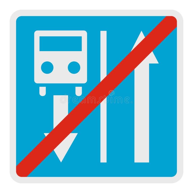 Finissez la route de l'icône de véhicule d'itinéraire, style plat illustration stock