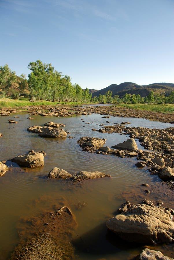 Finke Fluss, Australien lizenzfreie stockbilder
