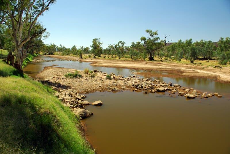 Finke Fluss, Australien lizenzfreie stockfotografie