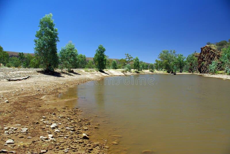 Finke Fluss, Australien lizenzfreie stockfotos