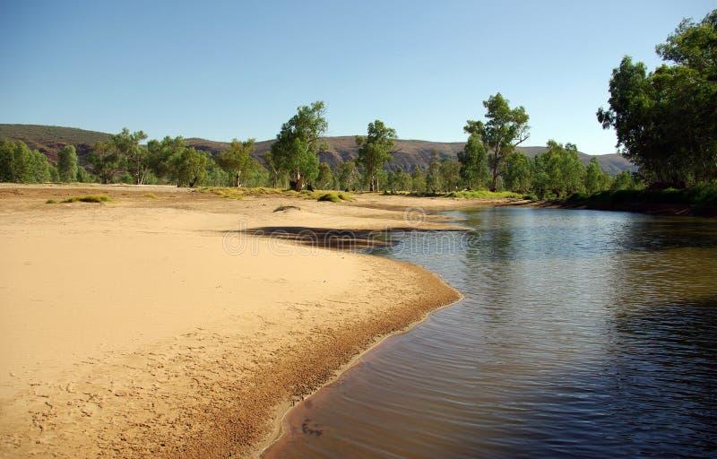 Finke River, Australia stock photo