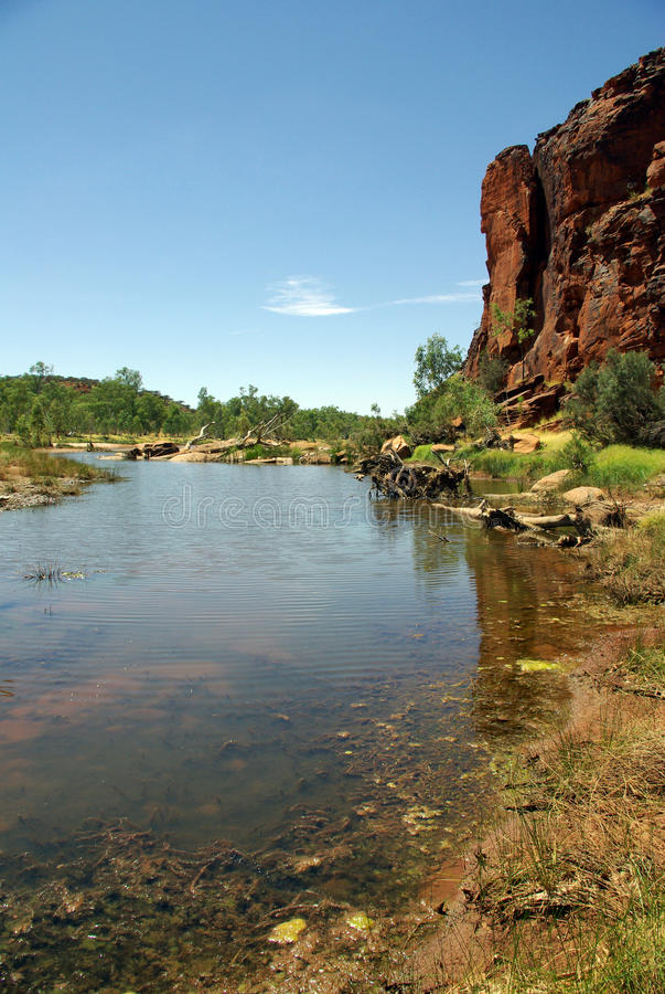 Finke River, Australia stock image