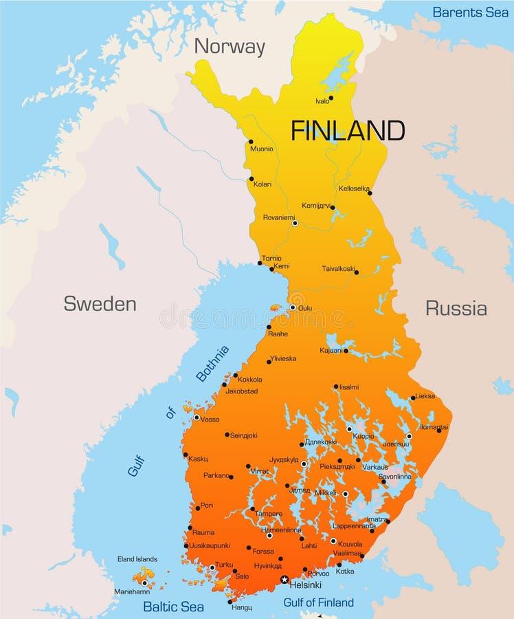 Finland vector illustratie