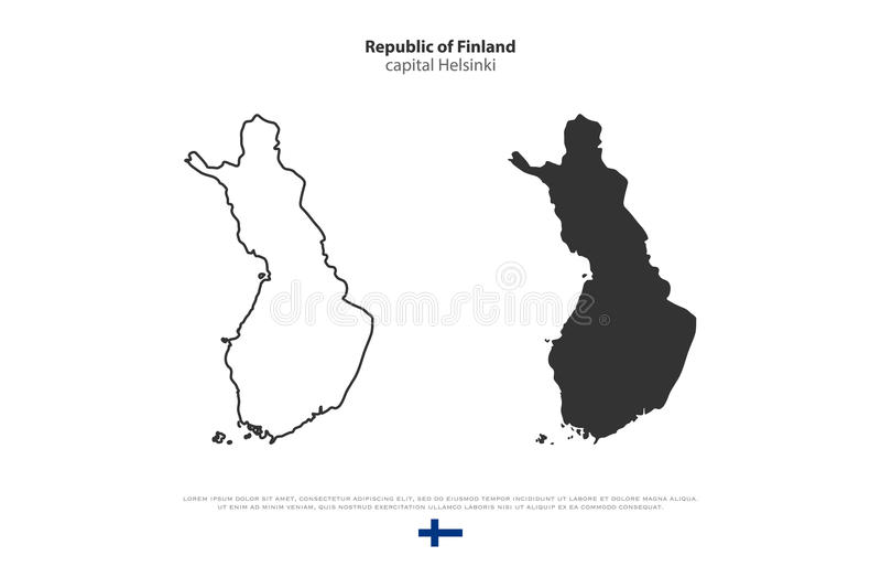 finland ilustração stock