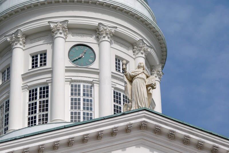 finland Capital de Helsínquia A paisagem de construções históricas, de construções religiosas, de ruas centrais e de parques foto de stock