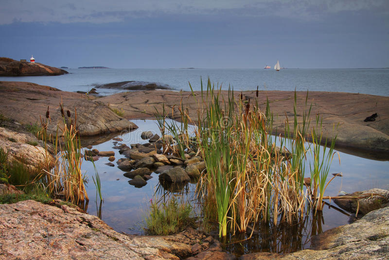 Finland: Coast of Helsinki royalty free stock photography