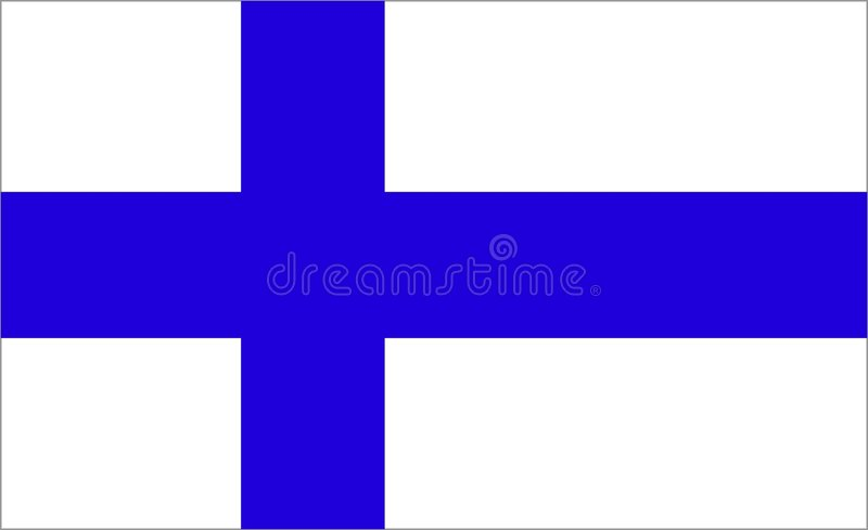 Finland Flag royalty free illustration