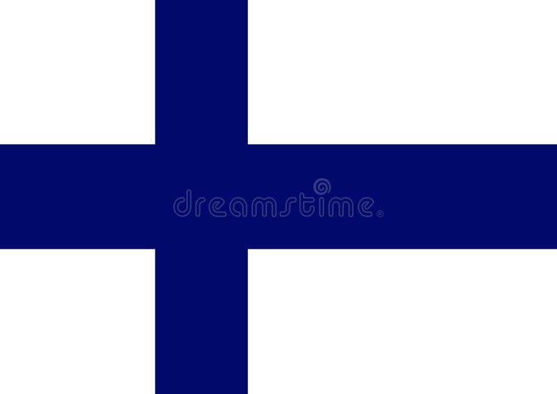 Finland Flag. 2D illustration of a flat Finland Flag vector illustration