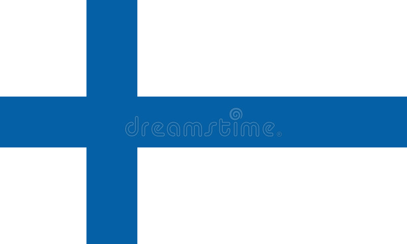 Finland flag. The national flag of Finland stock illustration