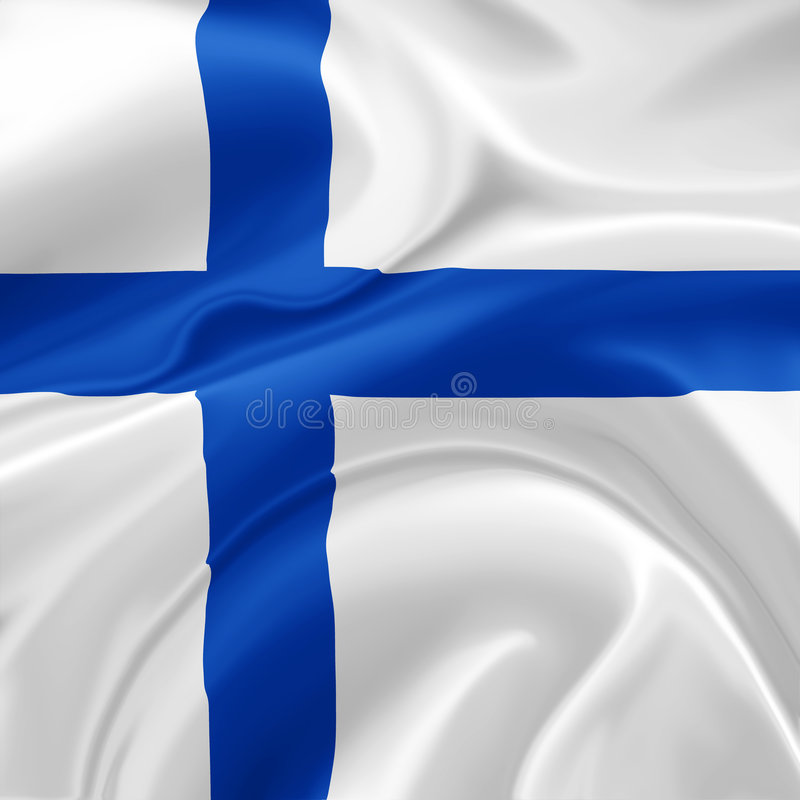 Finland flag. A realistic illustration of the Finland flag vector illustration