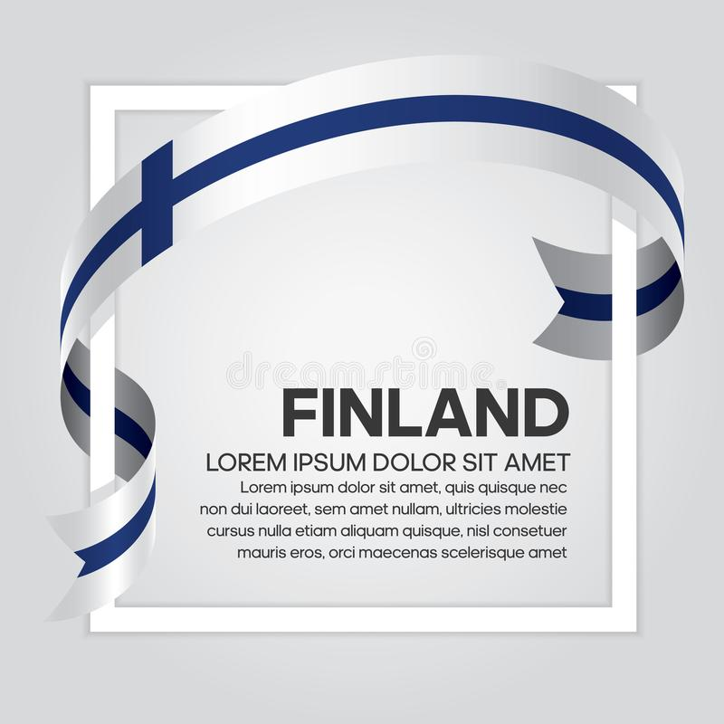 Finland flag background. Finland ribbon flag on background creative template. Simple work and adjusted to suit your needs vector illustration