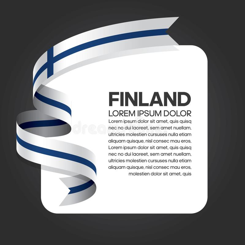 Finland flag background. Finland ribbon flag on background creative template. Simple work and adjusted to suit your needs royalty free illustration