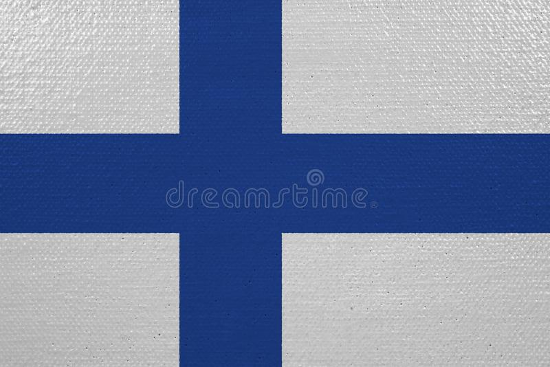Finland flag on canvas. Patriotic background. National flag of Finland royalty free illustration