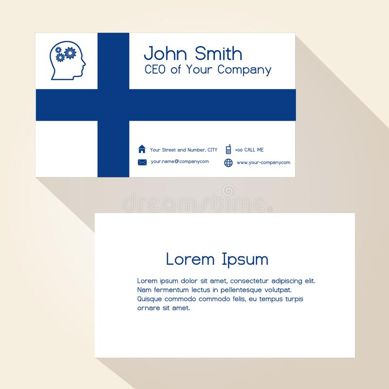 Finland Flag Color Business Card Design Eps10 Stock Vector ...