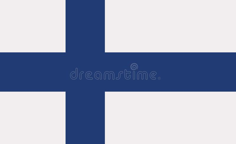 Finland flag vector. Finland flag country love vector royalty free illustration