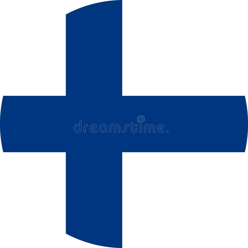 Finland Flag illustration vector eps. Finland Flag europe illustration vector download eps royalty free illustration