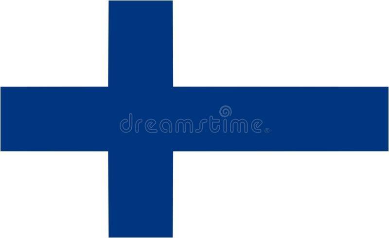 Finland flag. And language icon - isolated vector illustration royalty free illustration