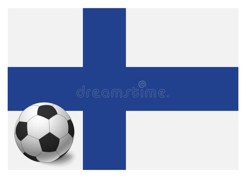 Finland flag and soccer ball. National football background. Soccer ball with flag of Finland vector illustration royalty free illustration