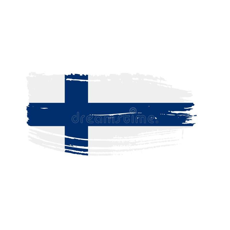 Finland flag, vector illustration. On a white background vector illustration