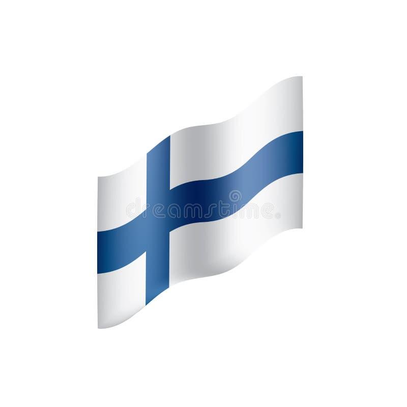 Finland flag, vector illustration. On a white background royalty free illustration