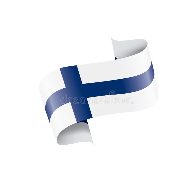 Finland flag, vector illustration on a white background. Finland national flag, vector illustration on a white background stock illustration