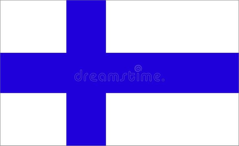 finland flagga royaltyfri illustrationer