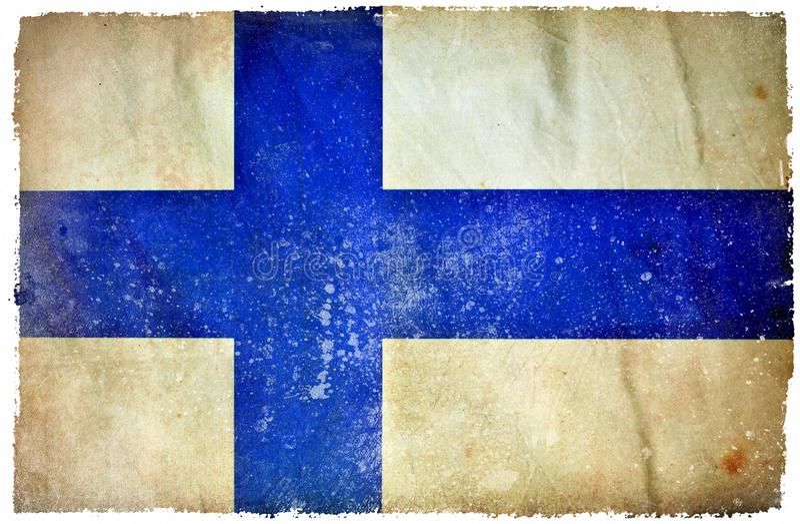Finland grunge flag stock illustration