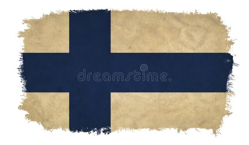 Finland grunge flag royalty free illustration