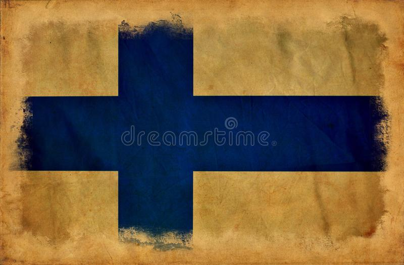 Finland grunge flag vector illustration