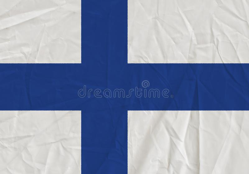 Finland grunge flag. Patriotic background. National flag of Finland stock illustration