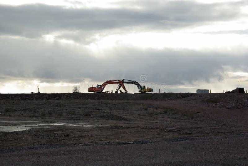 Finland, Hanko, romantic excavators stock image