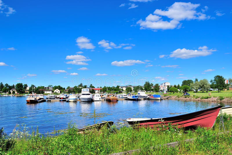 Finland. Haven of Hamina. Finland. Very beautiful and quiet Haven of Hamina royalty free stock image