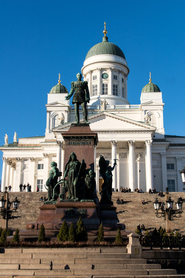 Free Finland Helsinki Cathedral And Monument To Alexander II Royalty Free Stock Photo - 69302675